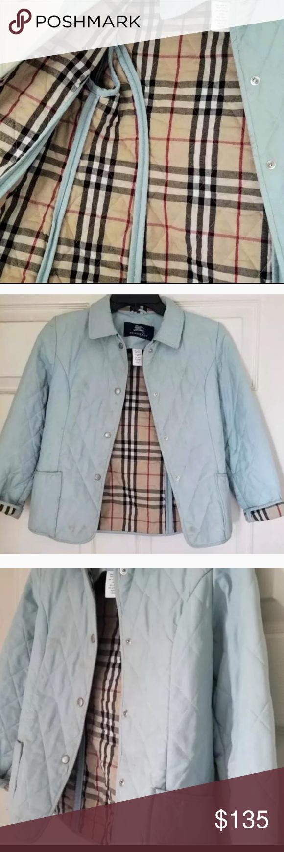 Burberry Quilted Light Blue Jacket Light Blue Jacket Blue Jacket Quilted Jacket