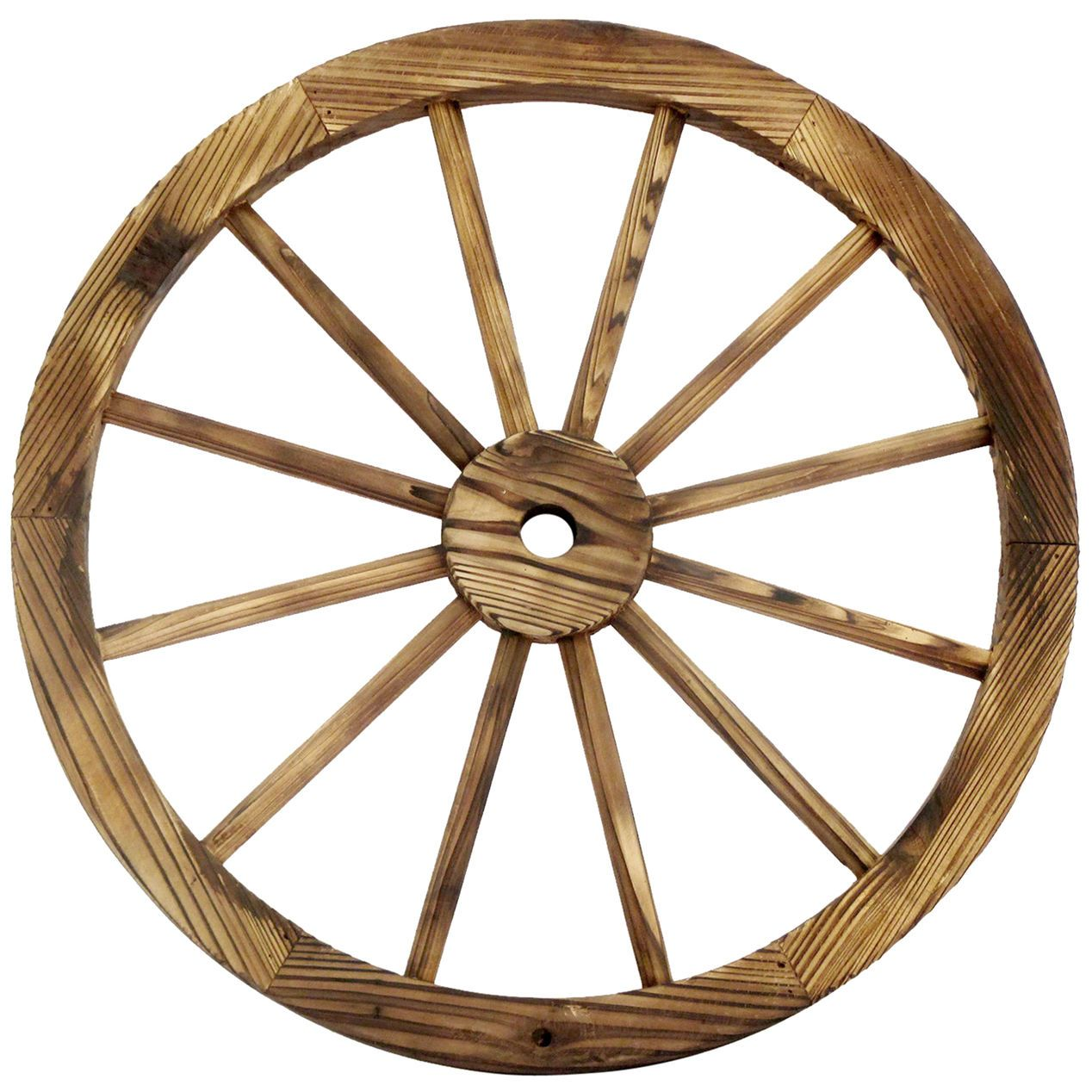 Decorating Ideas With Wagon Wheels | 24 In. Wood Wagon Wheel Patio Décor