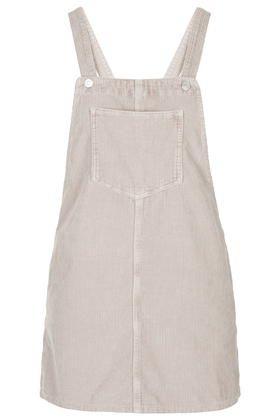 PETITE Cord Pinafore Dress