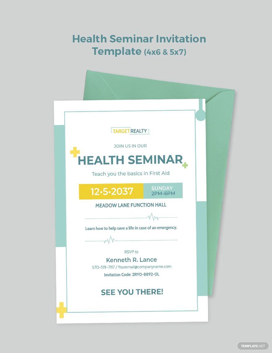Health Seminar Invitation Template Free Jpg Illustrator Word Apple Pages Psd Publisher Template Net Invitation Template Card Template Templates