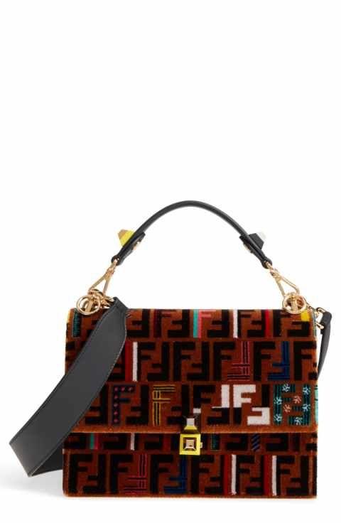 917d1f3d88 Fendi Kan I Tappetino Velvet Shoulder Bag