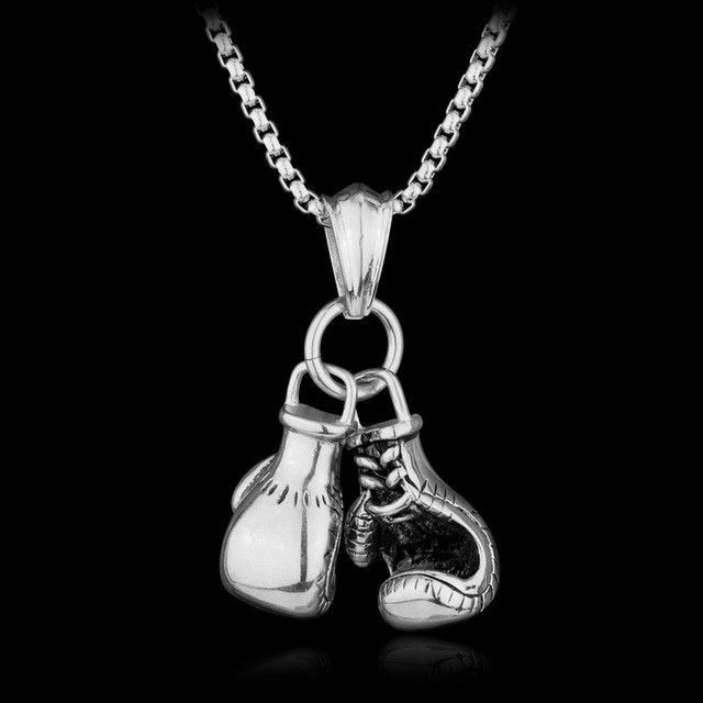 High Quality Boxing Gloves Pendant Necklace
