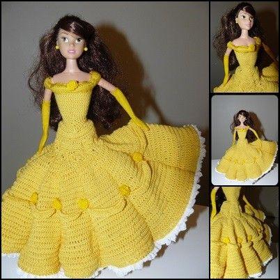 64d3d1a54d8236 tuto crochet: Lorsque Barbie se prend pour la Belle de La Belle et ...