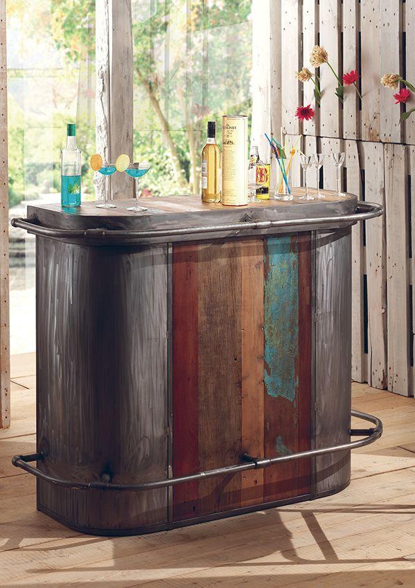 Bar Vintage En Bois De Bateau Recyclé De Chez Cocktail Scandinave