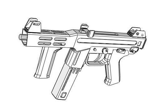 Full Size Spectre M4 Submachine Gun Free Paper Model Download