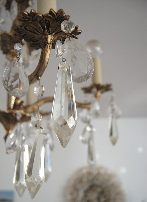 Adding Bling To A Chandelier Pinterest Bling Chandeliers And - Loose chandelier crystals