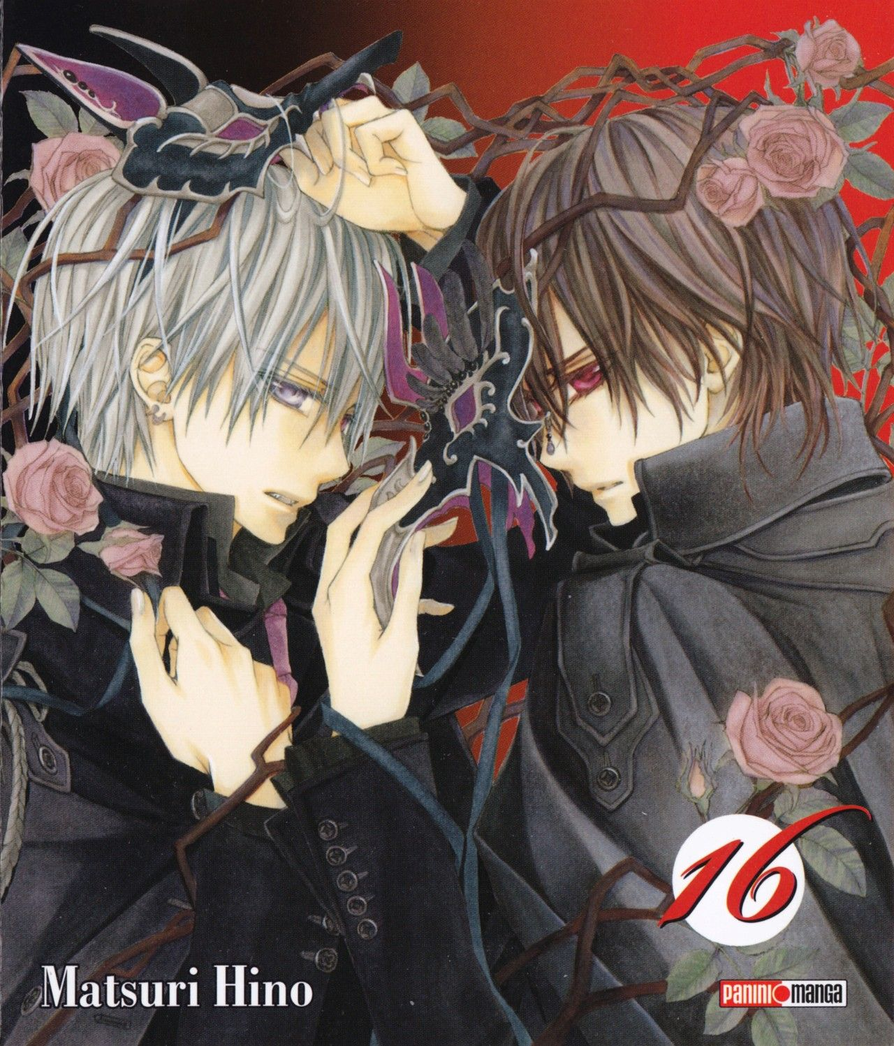 Zero and Kaname on Vol.16 cover Vampire knight manga