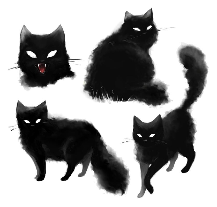 Pin By Yas On Tatoo Salem Black Cat Tattoos Cat Illustration Cat Art