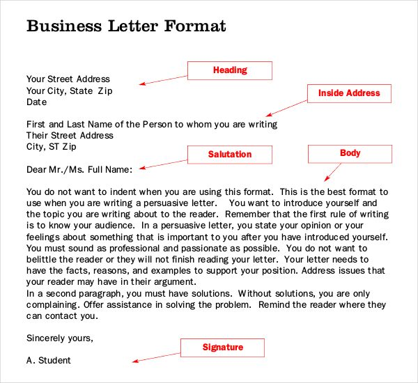 Letter Writing Templates Free Sample Example Format Download