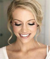 Photo of Braut Make up Ideen Hochzeit Make up z. Hd. braune Augen blaue  Braut Make-up-Id…