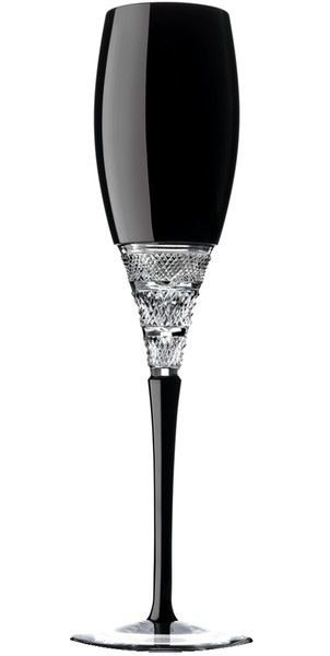 Waterford Crystal Black Champagne Flutes Black Glass