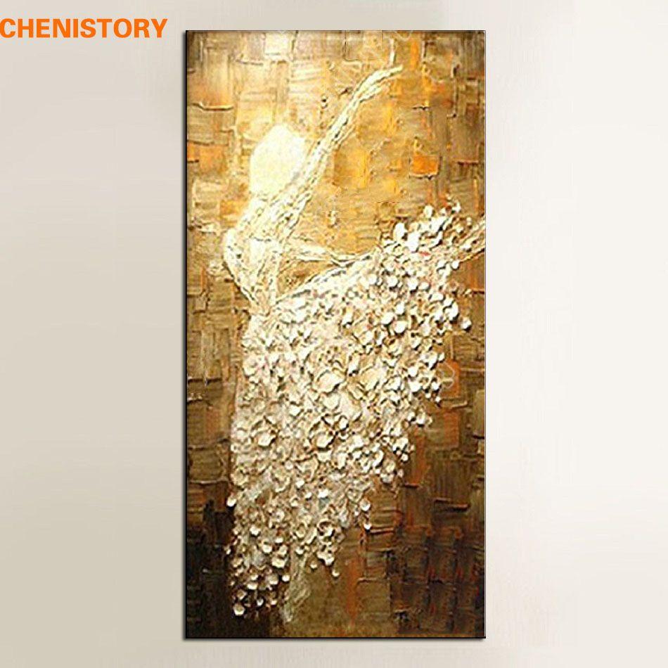 Unframed Handmade Texture Knife Ballet Dancer Abstract Modern Wall ...
