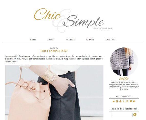 Blogger Template Minimalist \