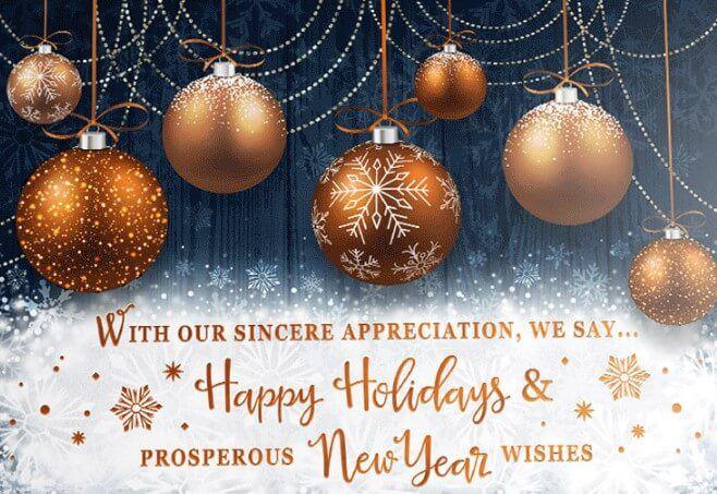 Happy Holidays 2020 Greeting Ecard Happy New Year Greetings New Year Greetings New Year Wishes