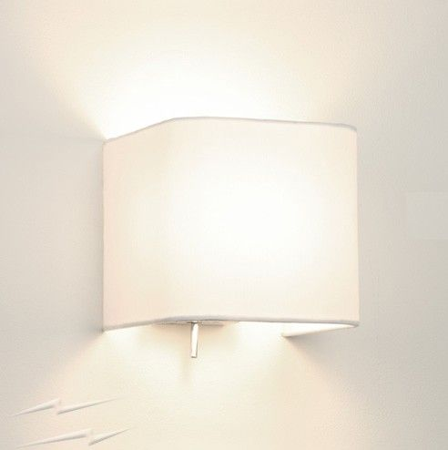 Ashino 0766 square wall light with white fabric shade switched wall ashino 0766 square wall light with white fabric shade switched wall lamp aloadofball Image collections