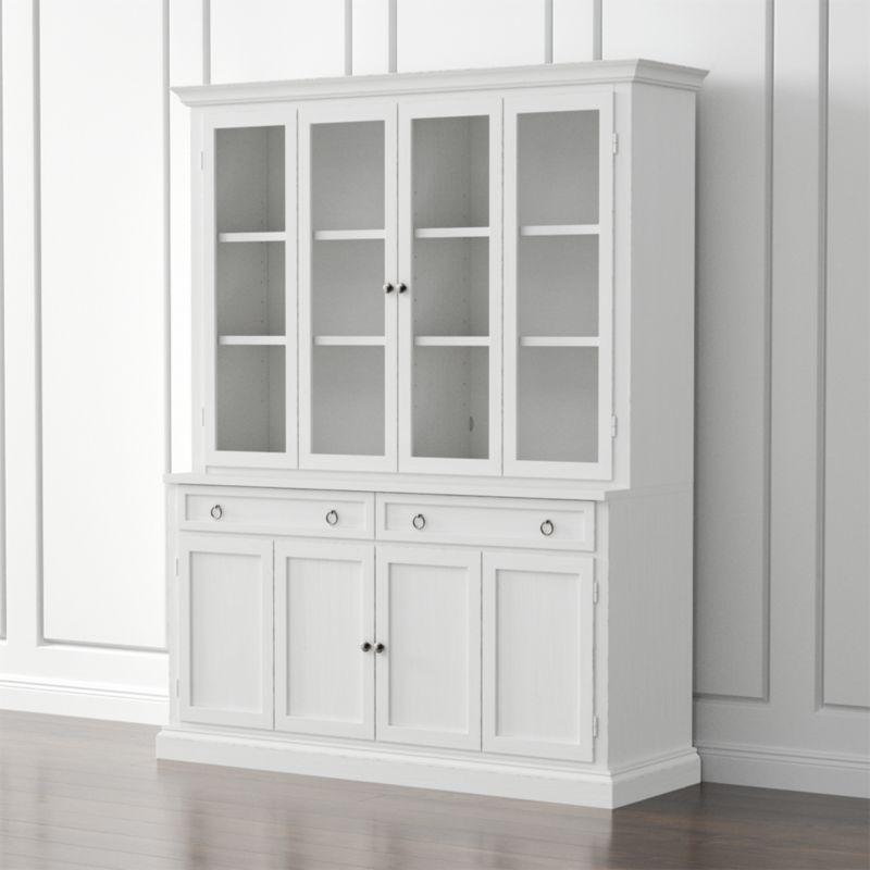 Cameo 2-Piece White Glass Door Wall Unit | Glass doors, Doors and Crates