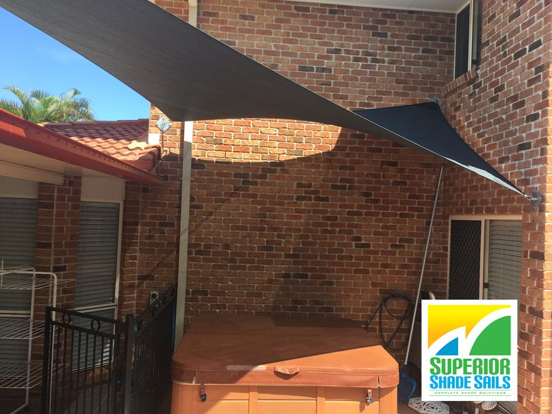 4 point hypar shade sail in Wellington Point to cover spa