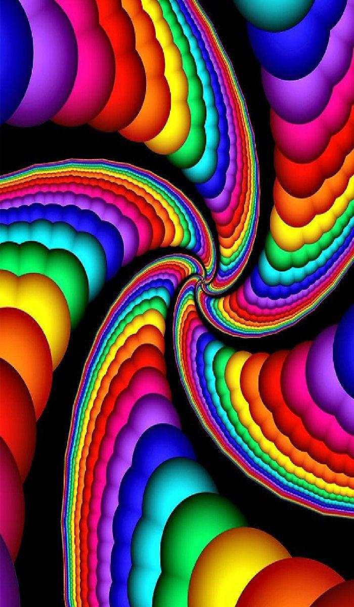 Rainbow stripes | Rainbow colors, Rainbow wallpaper ...  |Bright Rainbow Colors