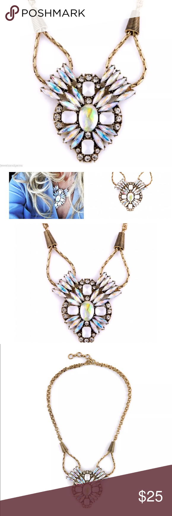 Statement Necklace Teardrop Rainbow Colorful Collar Necklace--Show Stopper Jewelry Necklaces