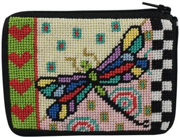 Alice Peterson Coin Purse – Dragonfly – Needlepoint Kit SZ19…