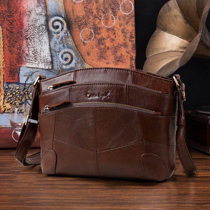 d2bc41cd4a32 Cobbler Legend Multi Pockets Vintage Genuine Leather Bag Female Small Women  Handbags Bags For Women 2018 Shoulder Crossbody Bag Review