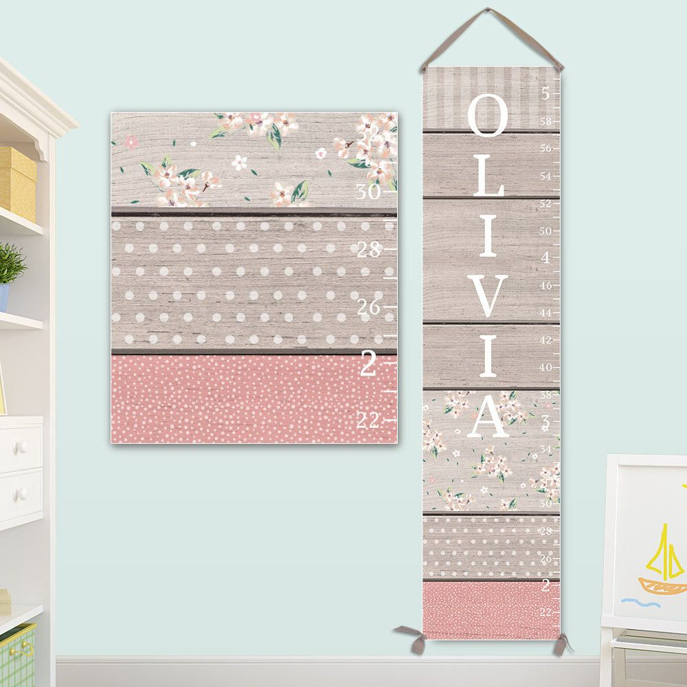 Personalized canvas growth chart with wood and pattern design personalized canvas growth chart with wood and pattern design girls growth chart wood growth nvjuhfo Choice Image