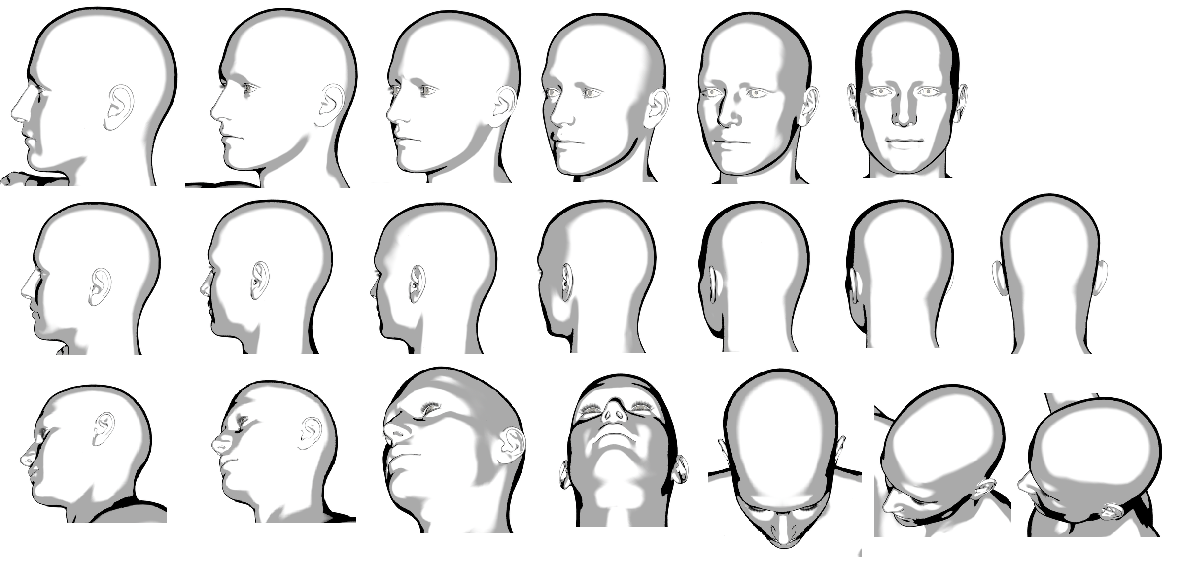 Head Angles Reference Reference Human Pictures Head Angles