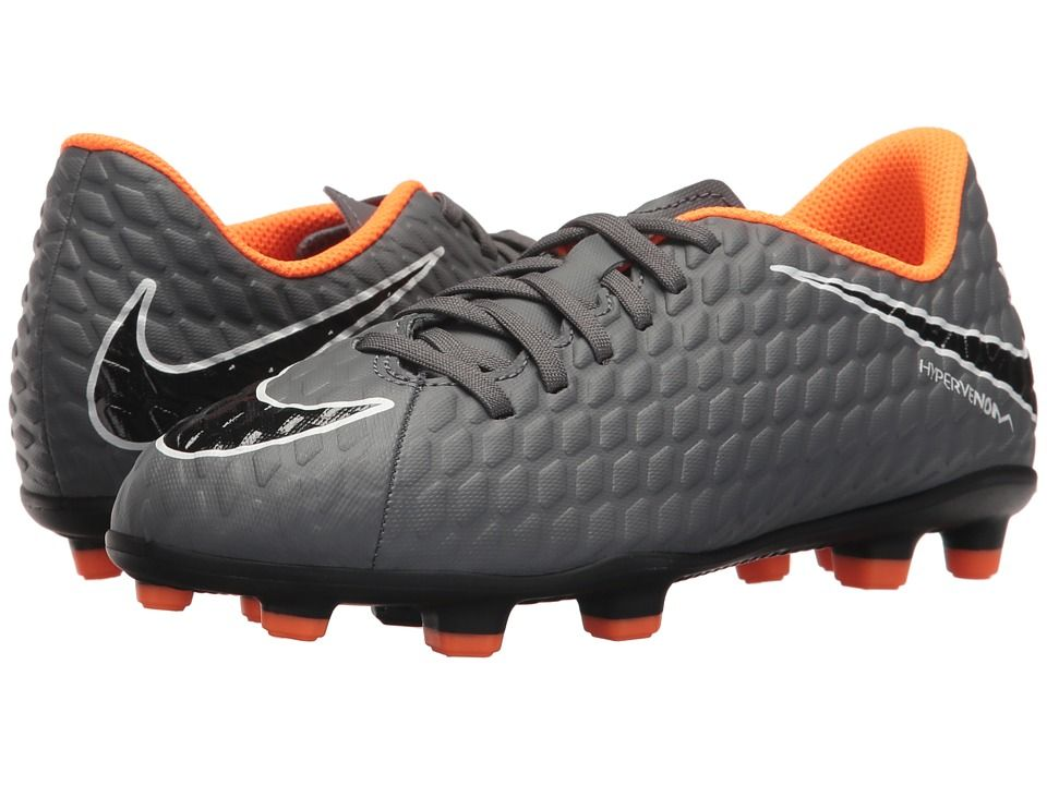e416b37364af7 Nike Kids Jr. Hypervenom Phantom 3 Club FG Soccer (Toddler/Little ...