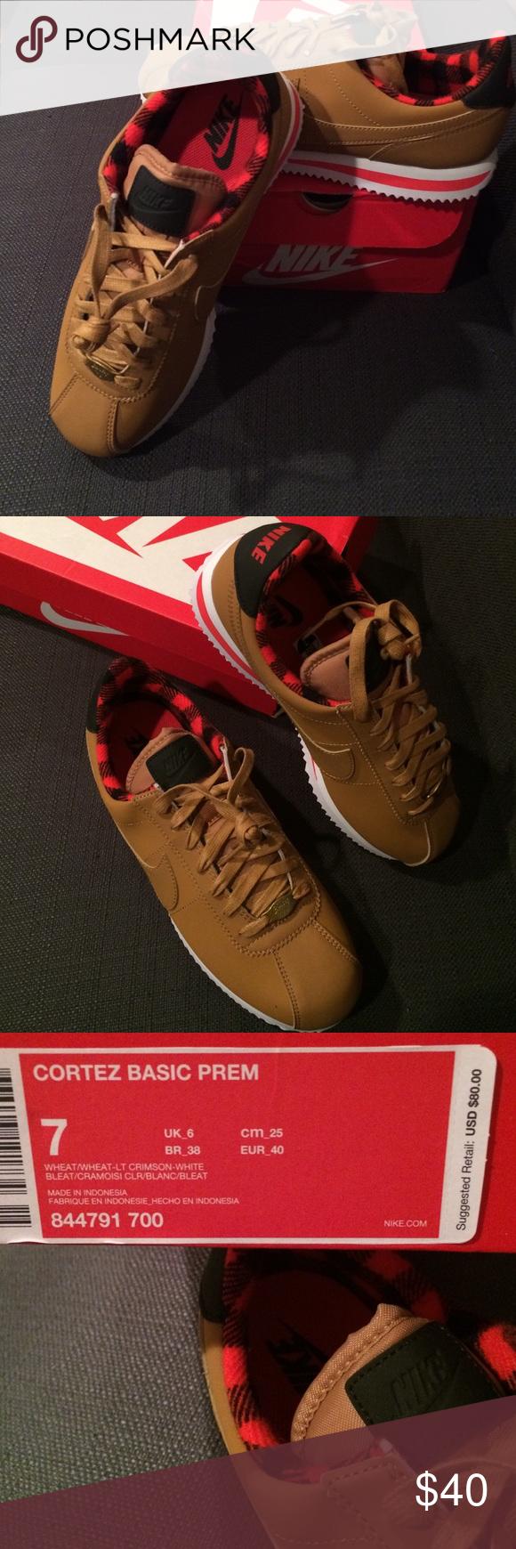new products 8a218 b8394 NWT Nike Cortez Basic Wheat women's size 9, men 5 NWT Nike ...