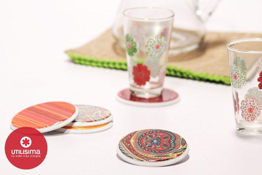 Posavasos, por Agustina Gallo. Hecho en casa. http://www.utilisima.com/manualidades/8663-posavasos.html