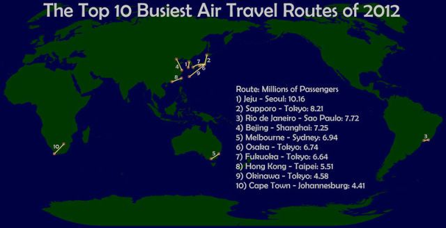 Curiosities maps that will change the way you see the world top 10 busiest air travel routes of 2012 40 maps that will help you make sense of the world gumiabroncs Image collections