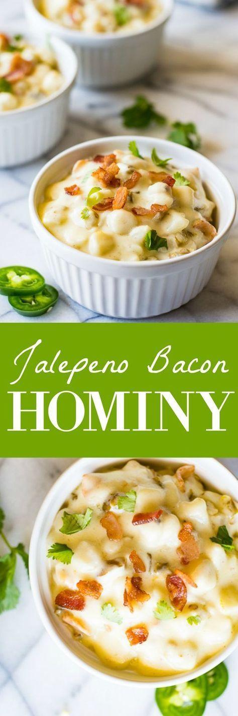 Jalapeño Bacon Hominy