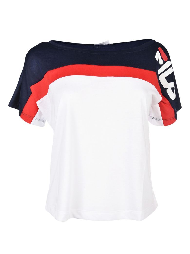 d4308515 Fila - Fila Rachel Cropped T-Shirt - Multicolor, Women's Short Sleeve  T-Shirts | Italist