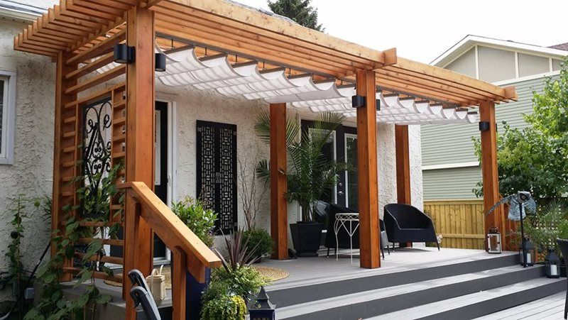 This retractable canopy adds the perfect finishing touch