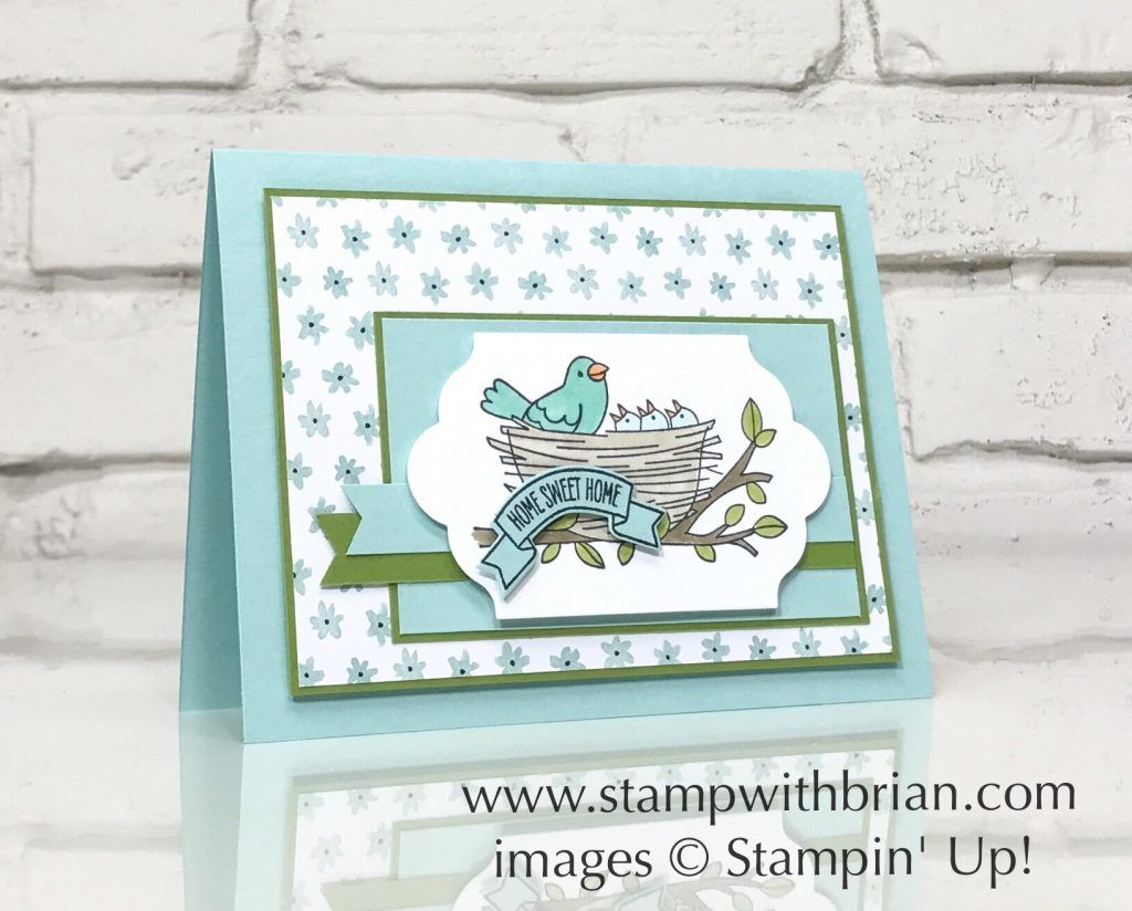 Flying By, Sweet Home, Stampin\' Up!, Brian King, new baby card, new ...