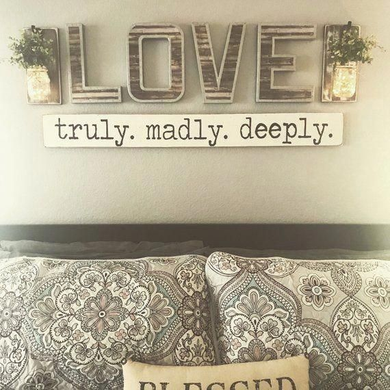 Love Sign Love Letters Love Wall Decor Love Wall Art Etsy In 2020 Master Bedroom Wall Decor Bedroom Wall Decor Above Bed Wall Decor Master