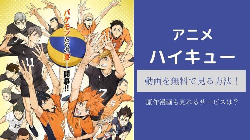 ハイキューアニメ1期 動画を無料で見る方法 原作漫画も見れるサービスは ハイキュー アニメ アニメ 漫画