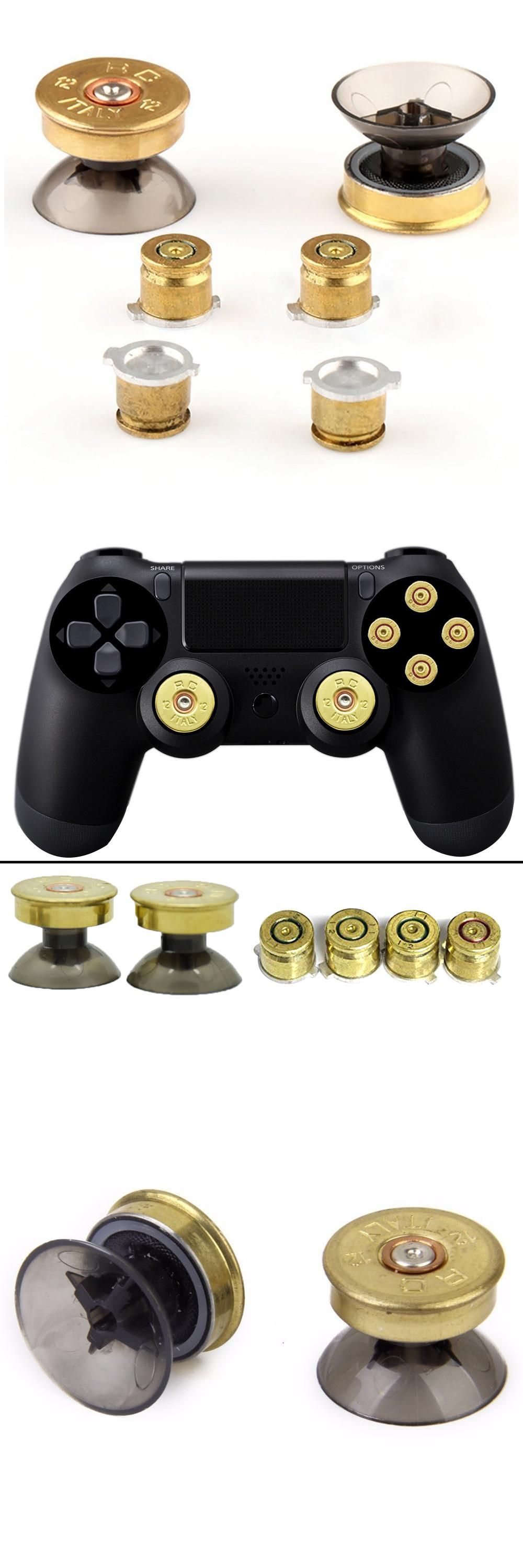 New Gold Thumbsticks Bullet Buttons and Bullet ABXY Buttons Set For ...
