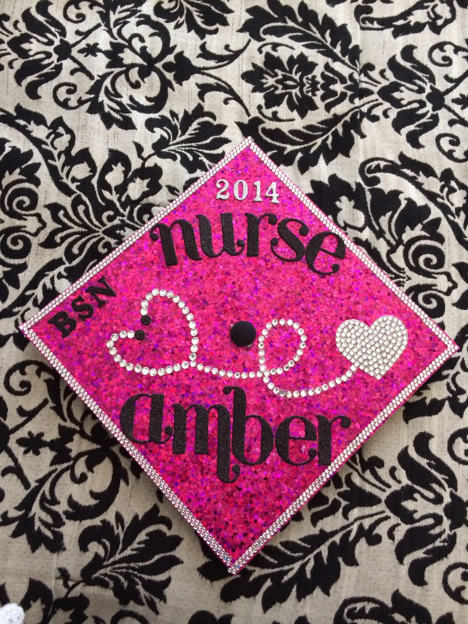 Class of 2014! My bling nursing grad cap! | Nursing school ...