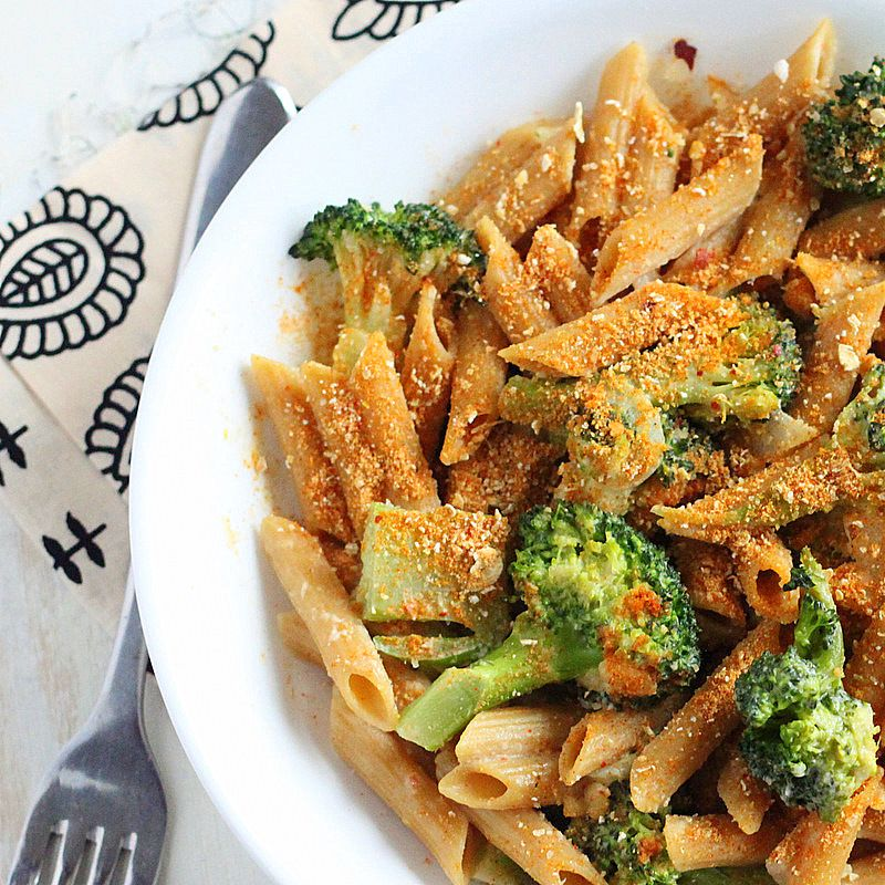 Penne and Broccoli with Dorito spice?  Is this gross or genius?!
