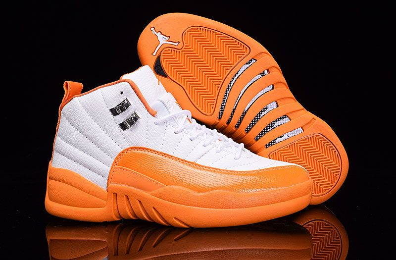 new styles 2f593 fc35a ... Green Orange Air Jordan 12 Retro Lows White Orange . ...
