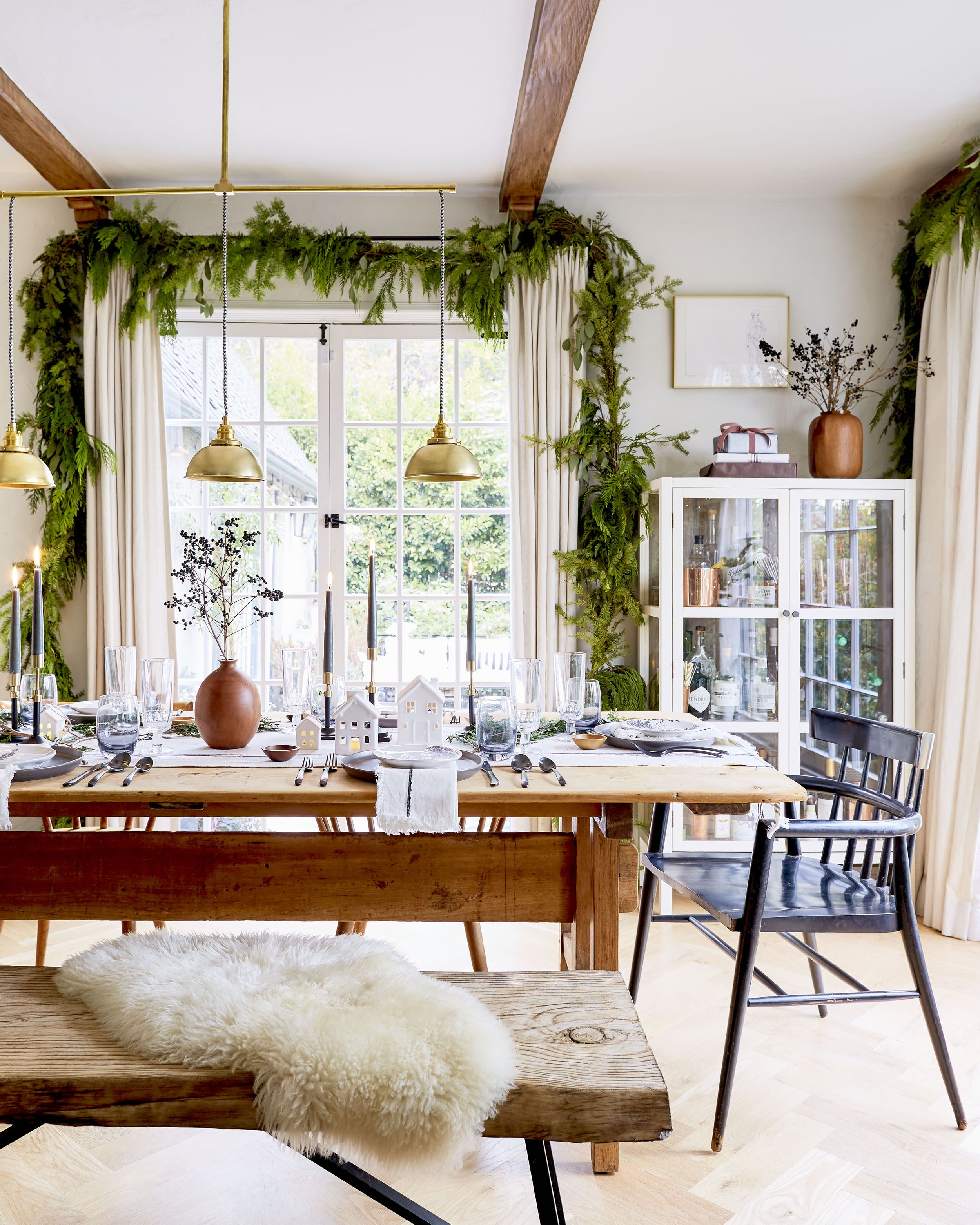 How To Create A Casual Affordable And Beautiful Holiday Tablescape All With Target Emily Henderson Dining Room Table Decor Dining Room Table Centerpieces Christmas Dining Room