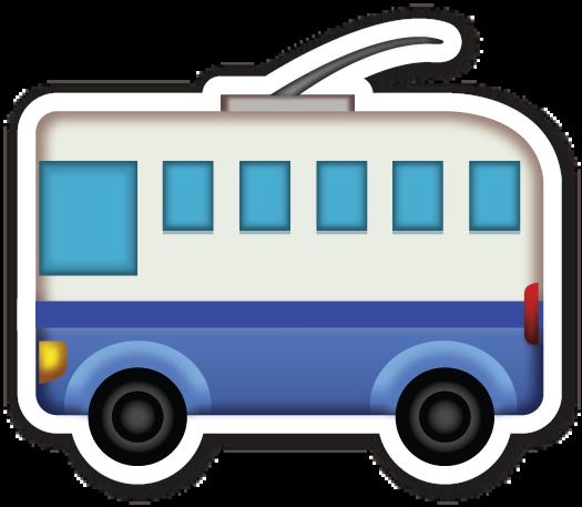 Trolleybus Emoji Red Bubble Stickers Emoji Stickers