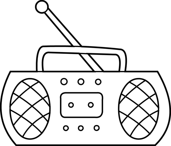 Radio Coloring Page Free Clip Art Radio Drawing Art Drawings For Kids Clip Art