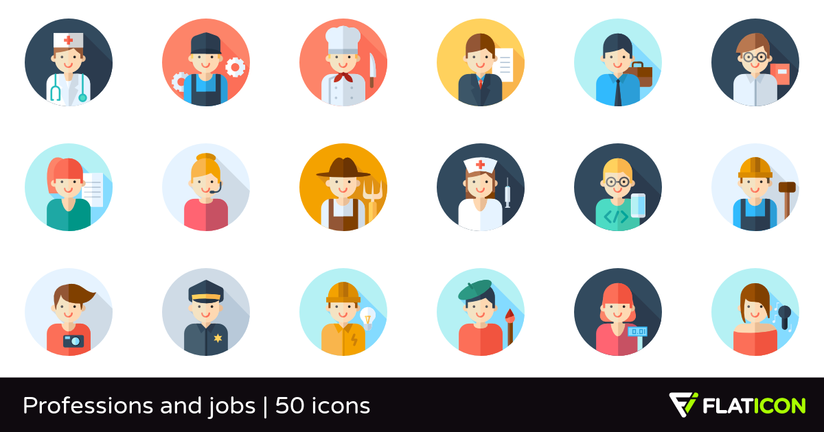 50 Free Vector Icons Of Professions And Jobs Designed By Freepik Vector Free In 2019 Flat