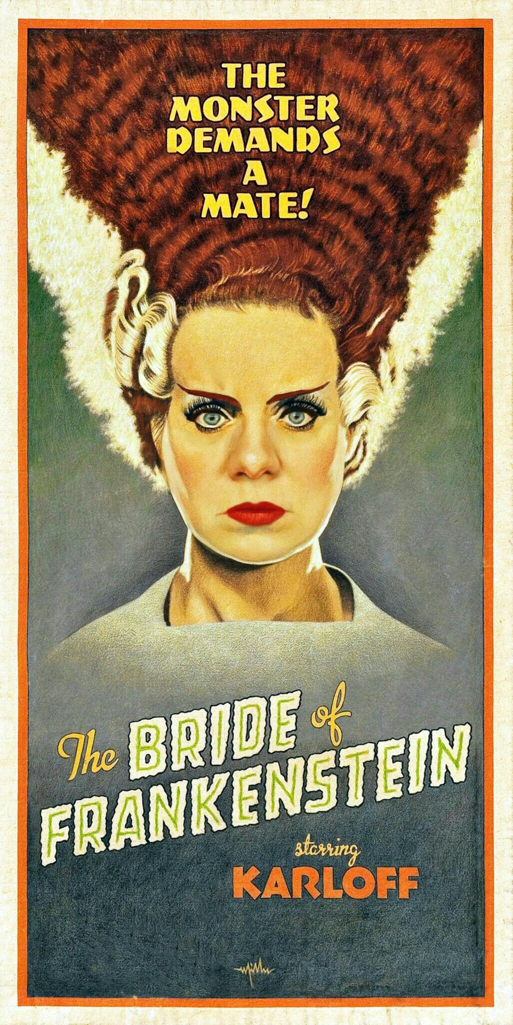 Bride of Frankenstein Classic Movie Poster or Canvas Art Print A3 A4 Sizes