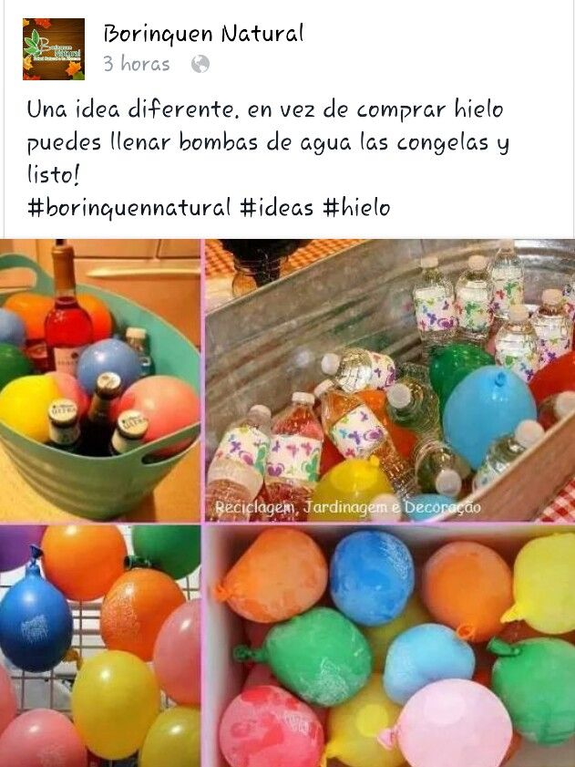 Una idea con mucho color!