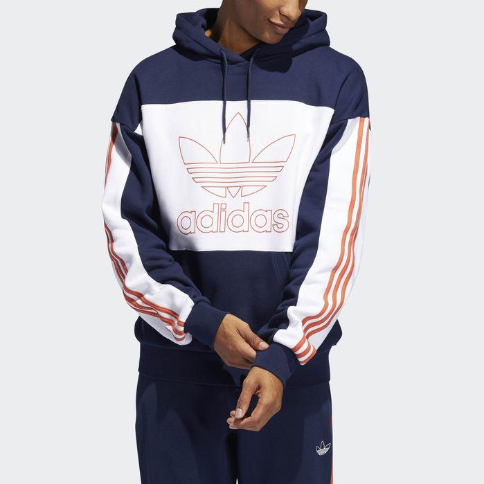 Outline Hoodie Navy Blue | Mens sweatshirts hoodie, Adidas