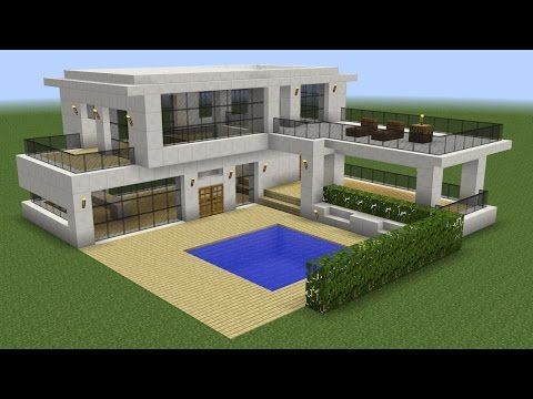 Minecraft how to build a beach house tutorial simple for Casa moderna omarzcraft