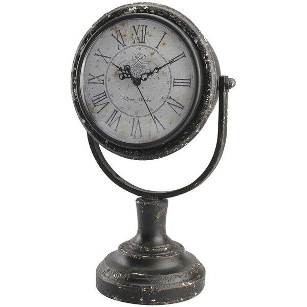 Stonebriar Collection Omnia Vanitas Round Table Clock ($56) ❤ liked on Polyvore featuring home, home decor, clocks, brown, circular clock and round clock